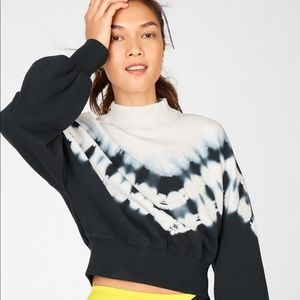 NWT Fabletics Olivia Mock Neck tie dye sweatshirt